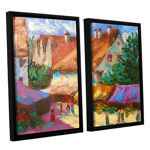Brushstone Rhone Village Market 2-pc. Floater Framed Canvas Wall Art