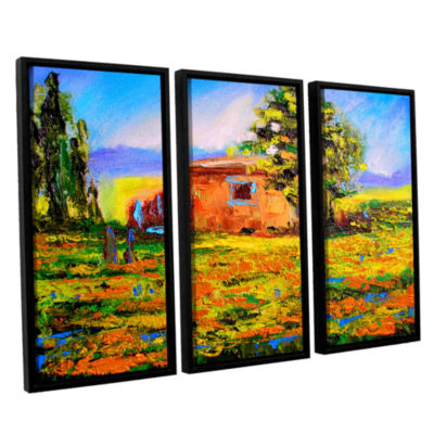 Brushstone Prarie Palace 3-pc. Floater Framed Canvas Wall Art