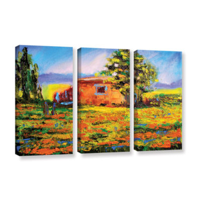 Brushstone Prarie Palace 3-pc. Gallery Wrapped Canvas Wall Art