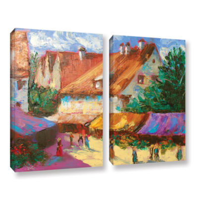 Brushstone Rhone Village Market 2-pc. Gallery Wrapped Canvas Wall Art