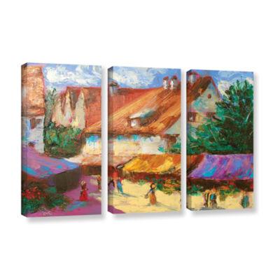 Brushstone Rhone Village Market 3-pc. Gallery Wrapped Canvas Wall Art