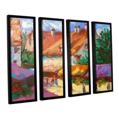 Brushstone Rhone Village Market 4-pc. Floater Framed Canvas Wall Art