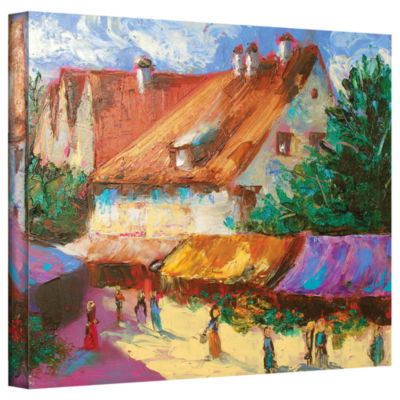 Brushstone Rhone Village Market Gallery Wrapped Canvas Wall Art