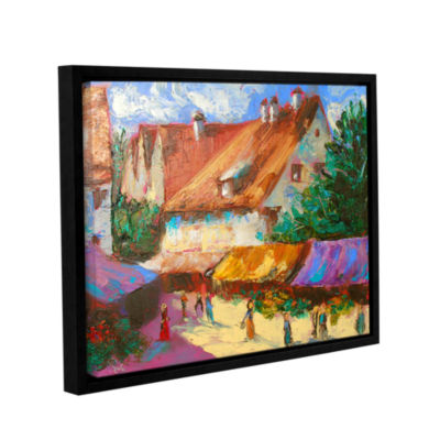 Brushstone Rhone Village Market Gallery Wrapped Floater-Framed Canvas Wall Art