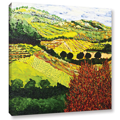 Brushstone Red Bush Gallery Wrapped Canvas Wall Art