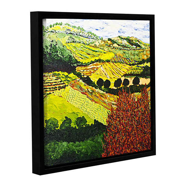 Brushstone Red Bush Gallery Wrapped Floater-FramedCanvas Wall Art