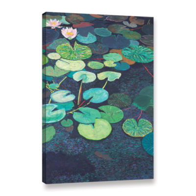 Brushstone Pink Lilies Gallery Wrapped Canvas WallArt