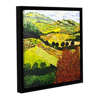 Brushstone Red Bush Gallery Wrapped Floater-FramedCanvas Wall Art