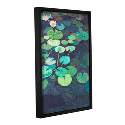 Brushstone Pink Lilies Gallery Wrapped Floater-Framed Canvas Wall Art
