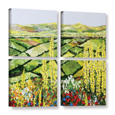 Brushstone Rolling Fields 4-pc. Square Gallery Wrapped Canvas Wall Art