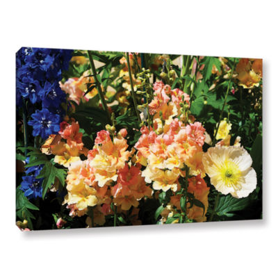 Brushstone Pink Poppy Gallery Wrapped Canvas WallArt