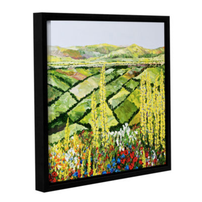 Brushstone Rolling Fields Gallery Wrapped Floater-Framed Canvas Wall Art