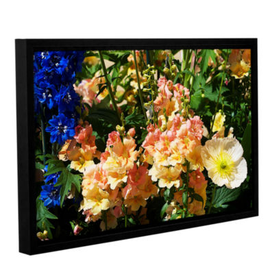 Brushstone Pink Poppy Gallery Wrapped Floater-Framed Canvas Wall Art