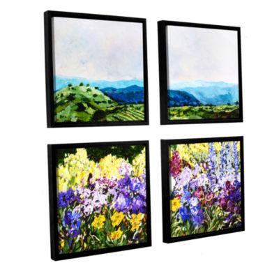 Brushstone Pollinator's Ravine 4-pc. Square Floater Framed Canvas Wall Art