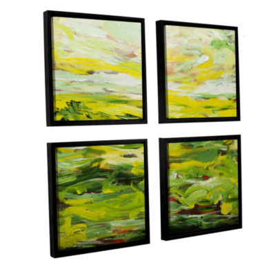 Brushstone Rainford 4-pc. Square Floater Framed Canvas Wall Art