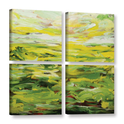 Brushstone Rainford 4-pc. Square Gallery Wrapped Canvas Wall Art