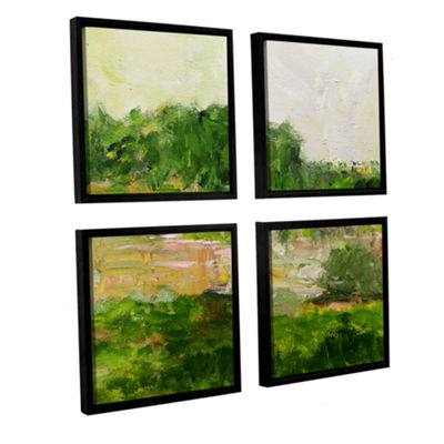 Brushstone Portsmouth 4-pc. Square Floater FramedCanvas Wall Art