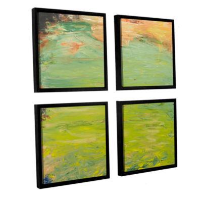 Brushstone Ringwood 4-pc. Square Floater Framed Canvas Wall Art