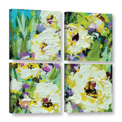 Brushstone Powis Castle Garden 4-pc. Square Gallery Wrapped Canvas Wall Art