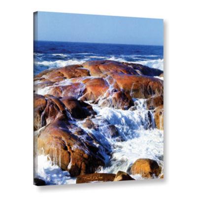 Brushstone Rocks Awash Gallery Wrapped Canvas Wall Art