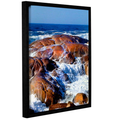 Brushstone Rocks Awash Gallery Wrapped Floater-Framed Canvas Wall Art