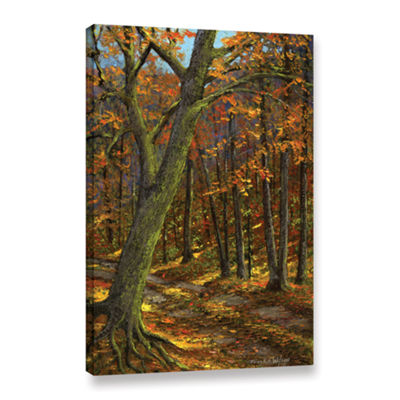 Brushstone Road In The Woods Gallery Wrapped Canvas Wall Art