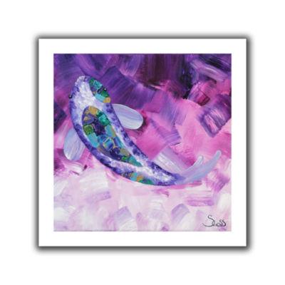 Brushstone Purple Koi Canvas Wall Art