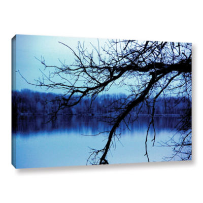Brushstone Rainy Day In Autumn Gallery Wrapped Canvas Wall Art