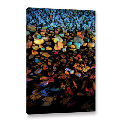 Brushstone River Rock Gallery Wrapped Canvas WallArt