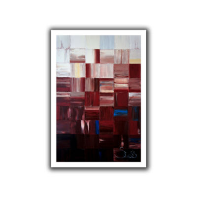 Brushstone Redsquares Canvas Wall Art