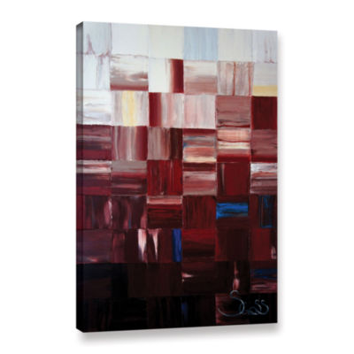 Brushstone Redsquares Gallery Wrapped Canvas Wall Art
