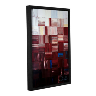 Brushstone Redsquares Gallery Wrapped Floater-Framed Canvas Wall Art