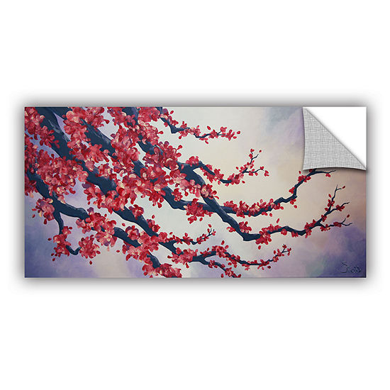Brushstone Red Cherry Blossom Removable Wall Decal