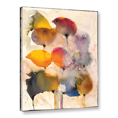 Brushstone Poppies (Karin Johannesson) Gallery Wrapped Canvas Wall Art