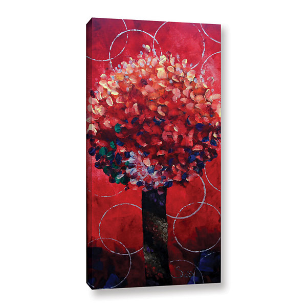 Brushstone Red Lolli Pop Gallery Wrapped Canvas Wall Art