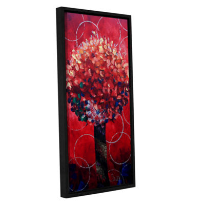 Brushstone Red Lolli Pop Gallery Wrapped Floater-Framed Canvas Wall Art