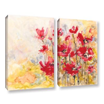 Brushstone Poppy Field (Karin Johannesson) 2-pc. Gallery Wrapped Canvas Wall Art