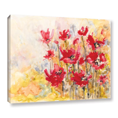 Brushstone Poppy Field (Karin Johannesson) GalleryWrapped Canvas Wall Art