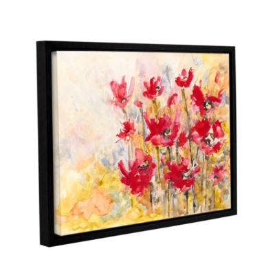 Brushstone Poppy Field (Karin Johannesson) GalleryWrapped Floater-Framed Canvas Wall Art