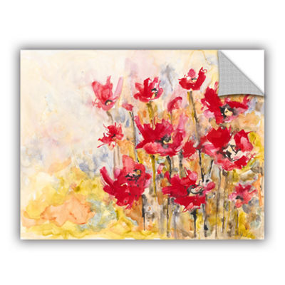 Brushstone Poppy Field (Karin Johannesson) Removable Wall Decal