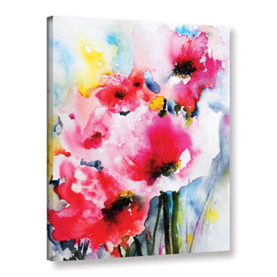 Brushstone Pink Poppies Gallery Wrapped Canvas Wall Art