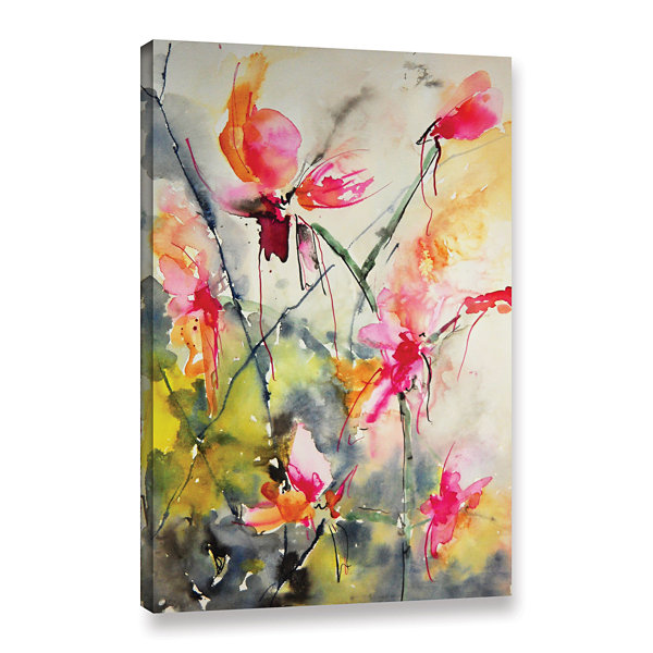 Brushstone Pink Sensations Gallery Wrapped CanvasWall Art