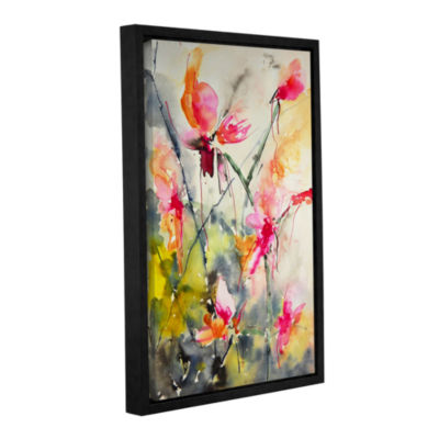 Brushstone Pink Sensations Gallery Wrapped Floater-Framed Canvas Wall Art