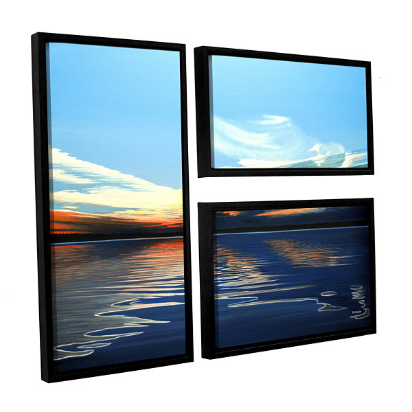 Brushstone Quiet Reflections 3-pc. Flag Floater Framed Canvas Wall Art