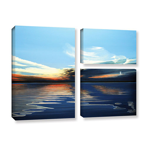 Brushstone Quiet Reflections 3-pc. Flag Gallery Wrapped Canvas Wall Art