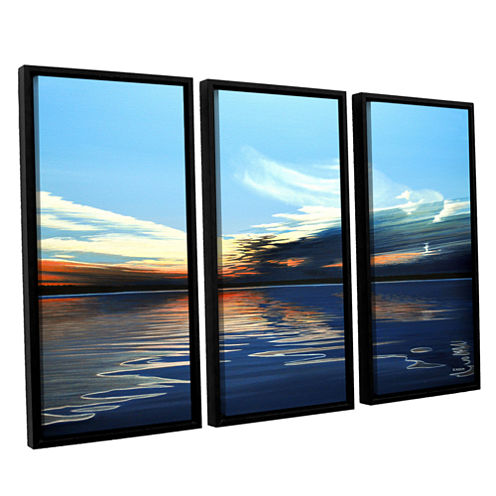 Brushstone Quiet Reflections 3-pc. Floater FramedCanvas Wall Art