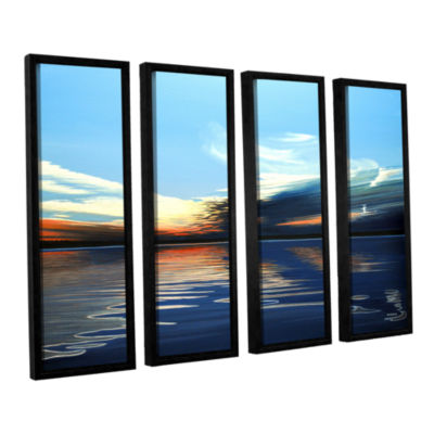 Brushstone Quiet Reflections 4-pc. Floater FramedCanvas Wall Art