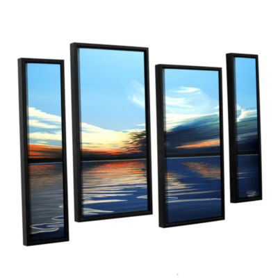 Brushstone Quiet Reflections 4-pc. Floater FramedStaggered Canvas Wall Art