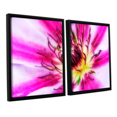 Brushstone Pink Petals 2-pc. Floater Framed CanvasWall Art
