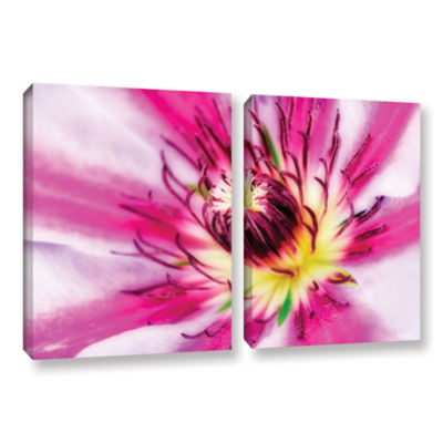 Brushstone Pink Petals 2-pc. Gallery Wrapped Canvas Wall Art